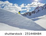 skier skiing downhill in high... | Shutterstock . vector #251448484
