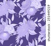 vector purple pattern with... | Shutterstock .eps vector #251449219