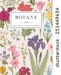 botany. vintage floral card.... | Shutterstock .eps vector #251449654