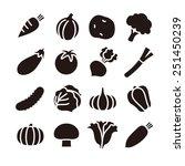vegetable icons   vector... | Shutterstock .eps vector #251450239