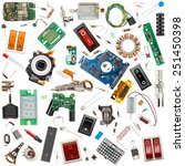 collection of electronic... | Shutterstock . vector #251450398
