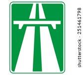 Motorway. Highway Sign.