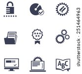 icons of different services of... | Shutterstock .eps vector #251464963