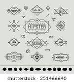set of minimal monochrome... | Shutterstock .eps vector #251466640