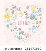 vector illustration of cute... | Shutterstock .eps vector #251471980