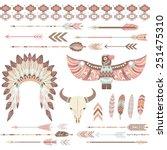 tribal  indian clip art... | Shutterstock .eps vector #251475310