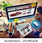 car rental transportation... | Shutterstock . vector #251481628