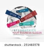 modern origami paper...   Shutterstock .eps vector #251483578