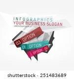 modern origami paper... | Shutterstock .eps vector #251483689