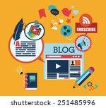 blog concept design  vector... | Shutterstock .eps vector #251485996