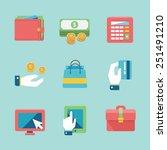 online shopping and finance... | Shutterstock .eps vector #251491210