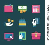 online shopping and finance... | Shutterstock .eps vector #251491228