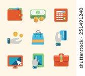 online shopping and finance... | Shutterstock .eps vector #251491240
