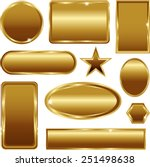 golden stickers banners signs... | Shutterstock .eps vector #251498638