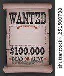 ������, ������: Wanted Vintage Poster On