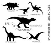 Dinosaurs Set Of Silhouettes ...