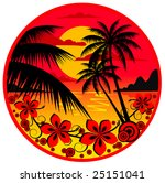 palm island | Shutterstock .eps vector #25151041