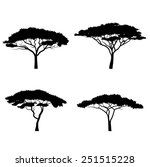 silhouettes of trees   Shutterstock .eps vector #251515228