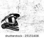vector helmet poster