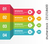 colorful horizontal infographic ...   Shutterstock .eps vector #251518600