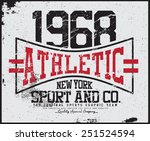 athletic  tee graphic | Shutterstock .eps vector #251524594