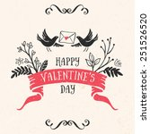valentine's day greeting card... | Shutterstock .eps vector #251526520