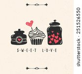valentine's day greeting card... | Shutterstock .eps vector #251526550