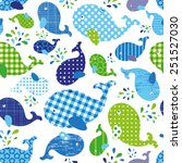 seamless pattern with whales | Shutterstock .eps vector #251527030
