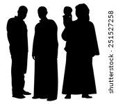 men silhouette vector  isolated | Shutterstock .eps vector #251527258