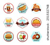 fast food emblems set with... | Shutterstock .eps vector #251532748