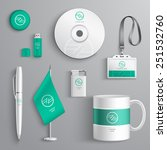 corporate identity emerald... | Shutterstock .eps vector #251532760