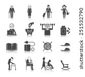 senior lifestyle black icons... | Shutterstock .eps vector #251532790
