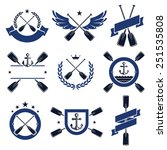 paddle labels and elements set. ... | Shutterstock .eps vector #251535808