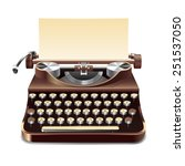 realistic old style typewriter... | Shutterstock .eps vector #251537050