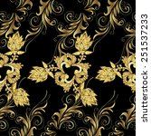 golden element on colors.... | Shutterstock .eps vector #251537233
