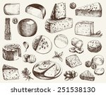 cheese making various types of...
