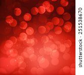 red bokeh abstract light... | Shutterstock .eps vector #251538670