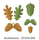 acorn. icon set. isolated... | Shutterstock .eps vector #251541340