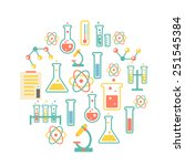chemistry icons background for  ... | Shutterstock .eps vector #251545384