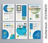 white brochure template design...   Shutterstock .eps vector #251548693