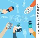 journalism concept vector... | Shutterstock .eps vector #251548993
