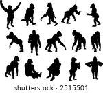 gorilla silhouette set  vector    Shutterstock .eps vector #2515501