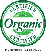 certified organic product stamp | Shutterstock .eps vector #251554396