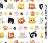 vector seamless pattern with... | Shutterstock .eps vector #251555068