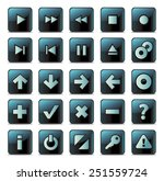 navigation buttons | Shutterstock .eps vector #251559724