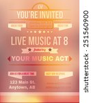 peach and pink party invitation ... | Shutterstock .eps vector #251560900