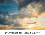 sunset blue sky as abstract | Shutterstock . vector #251563744