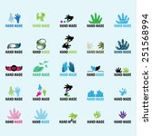 hand made icons set   isolated...