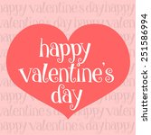 cute card for valentines day | Shutterstock .eps vector #251586994
