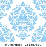 vector damask seamless pattern... | Shutterstock .eps vector #251587810